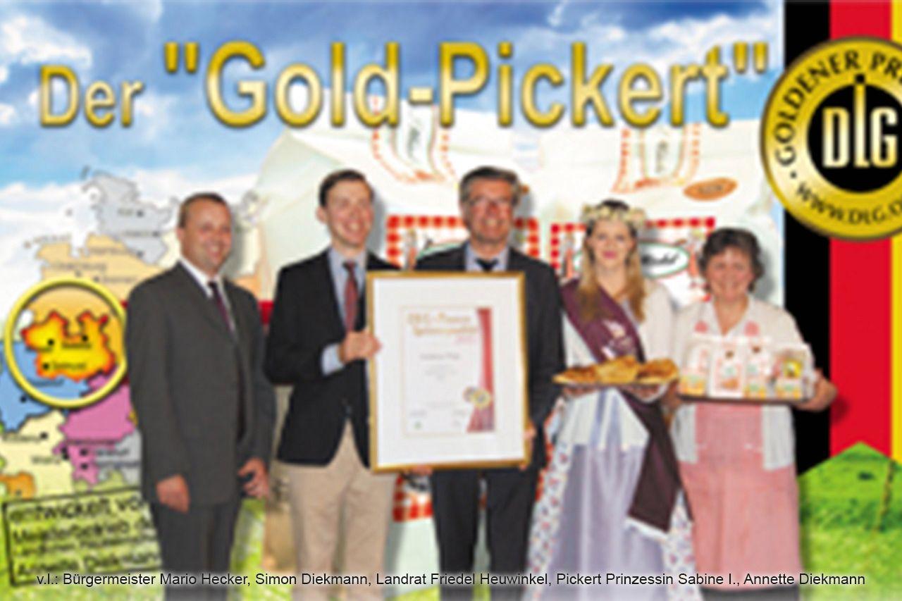 Die 1. DLG Goldmedaille für die Pickertbackmischung brauchte einen festlichen Rahmen.