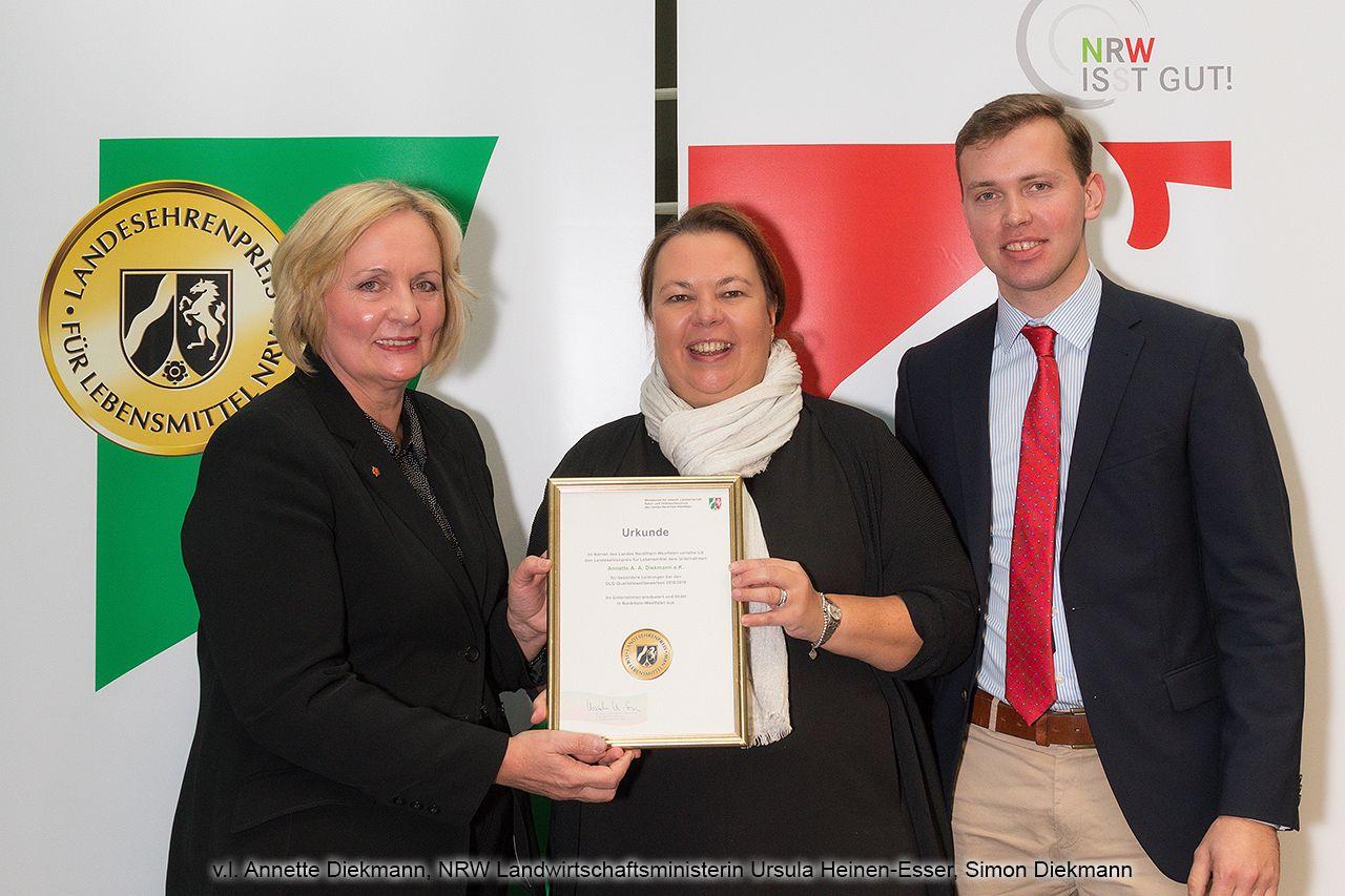 Verleihung des Landesehrenpreises für Lebensmittel Nordrhein-Westfalen